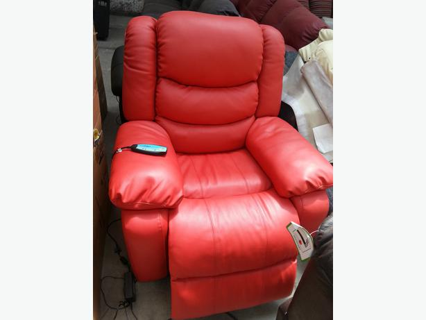 new real leather elictric recliner message armchair chair