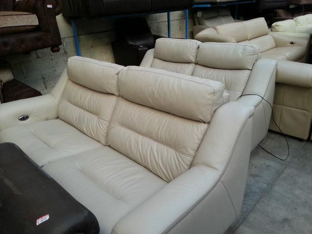Ex furniture village halcyon 3 2 set in light grey electric recliner prp 3138 moseley - Sofa herbergt s werelds ...