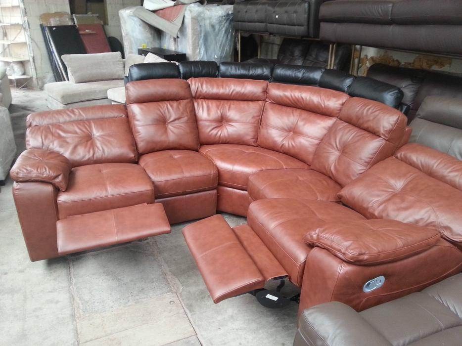 Argos oxley chestnut real leather recliner corner sofa moseley birmingham - Sofa herbergt s werelds ...