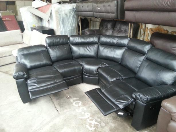 Argos Leather Corner Sofa Hereo