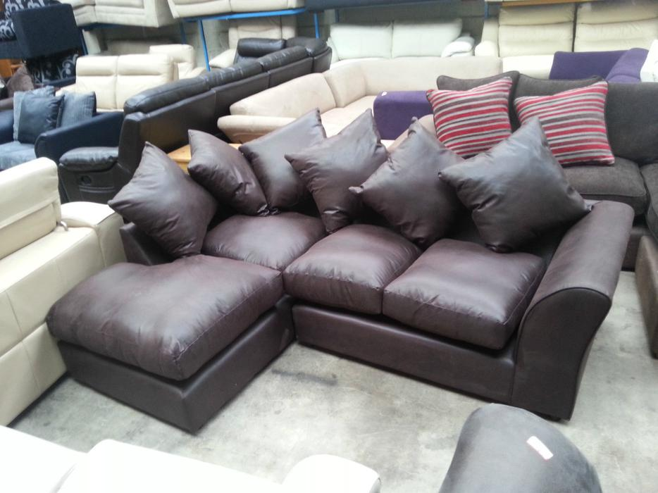 Argos alfie leather effect left hand corner chocolate moseley birmingham mobile - Sofa herbergt s werelds ...