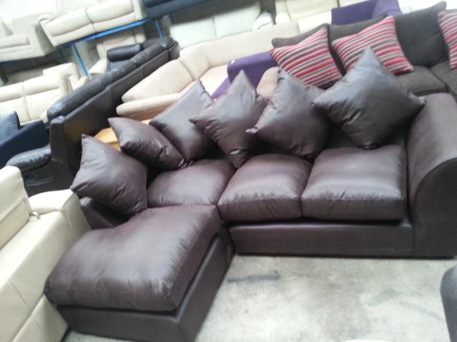 Argos alfie leather effect left hand corner chocolate moseley birmingham - Sofa herbergt s werelds ...
