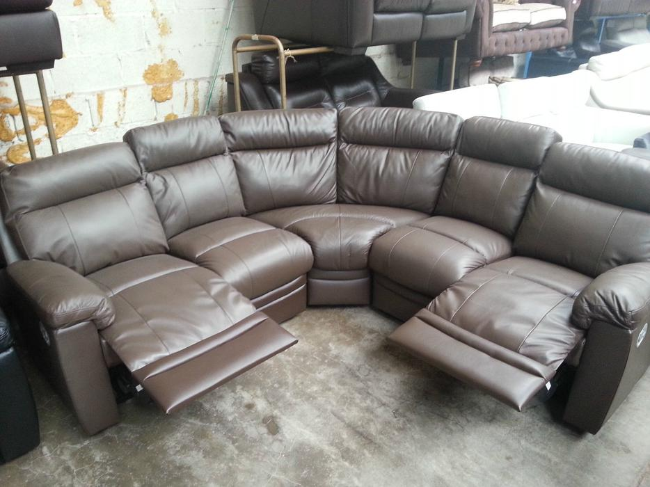 Argos paulo brown real leather recliner corner sofa moseley birmingham - Sofa herbergt s werelds ...