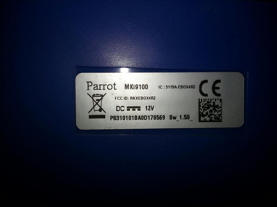 parrot mki9100 fitting instructions