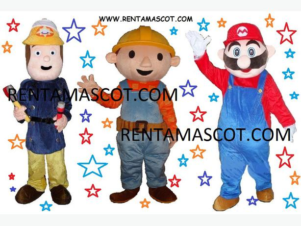 BOB THE BUILDER BEN 10 ADULT MASCOT FANCY DRESS COSTUME HIRE RENT