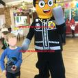 £45 EMMETT WILDSTYLE GOOD COP BAD LEGO MASCOT FANCY DRESS COSTUME HIRE