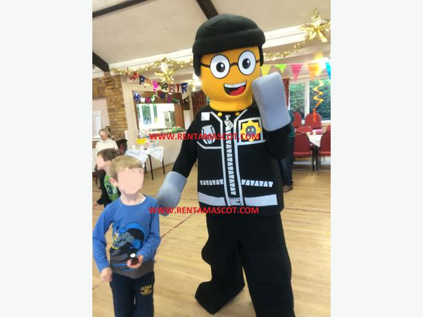 £45 EMMETT WILDSTYLE GOOD COP BAD LEGO MASCOT FANCY DRESS COSTUME HIRE & 45 EMMETT WILDSTYLE GOOD COP BAD LEGO MASCOT FANCY DRESS COSTUME ...