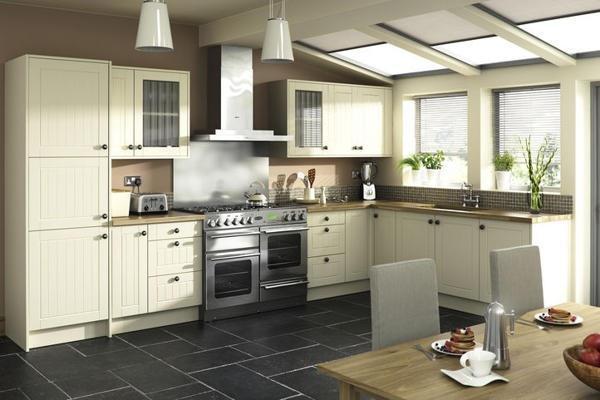 7 piece kitchen units matt cream classic brand new for Cream kitchen base units