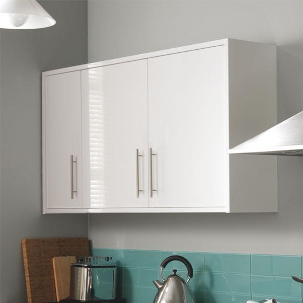 7 piece kitchen units white gloss brand new for White gloss kitchen corner unit