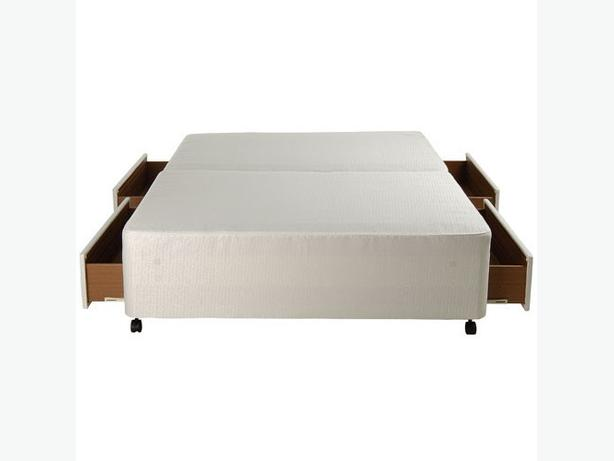 Double bases for divan bed two bases brand new brierley for New double divan bed
