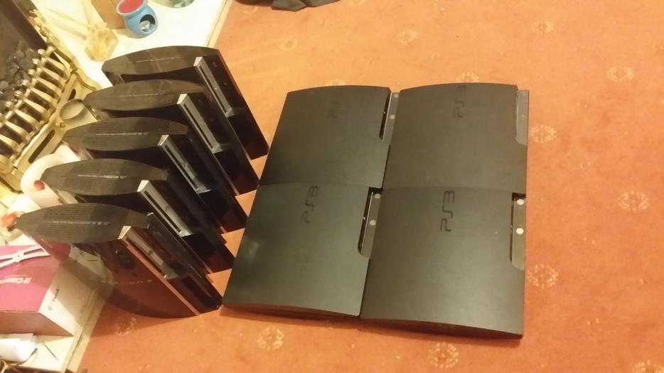 5 X Ps3 Fat Consoles And 4 X Slim Ps3 Consoles Dudley