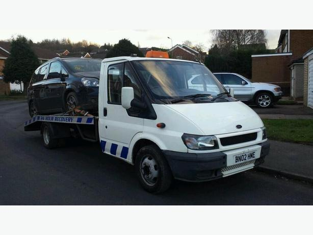 2002 Ford Transit Recovery Truck Long Bed Ramps Winch &