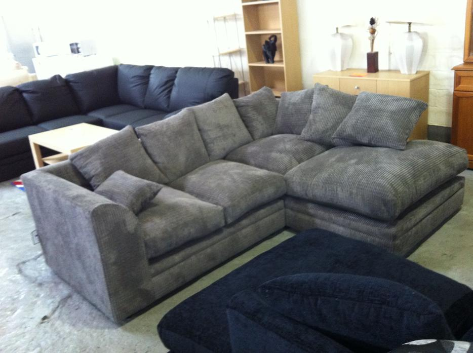 new tess corner sofa suite in grey cord fabric material other dudley. Black Bedroom Furniture Sets. Home Design Ideas