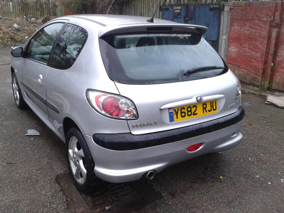 Y Reg Peugeot 206 Quick Silver 1 4ltr Petrol Manual With