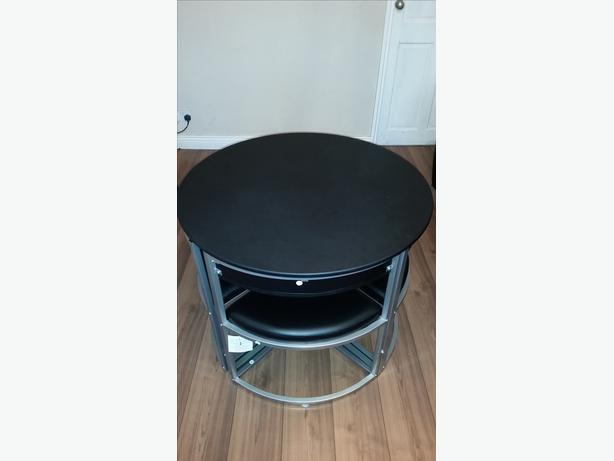 Space Saver Table And Chairs Argos: Hygena Milan Black Space Saver Table And 4 Black Chairs