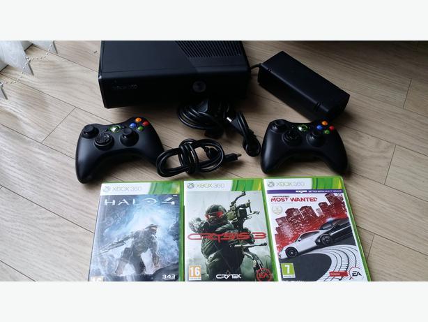 Xbox 360 S Slim 4GB Matte Black Console + 6 Game + 2 PADS ...  Xbox 360 S Slim...