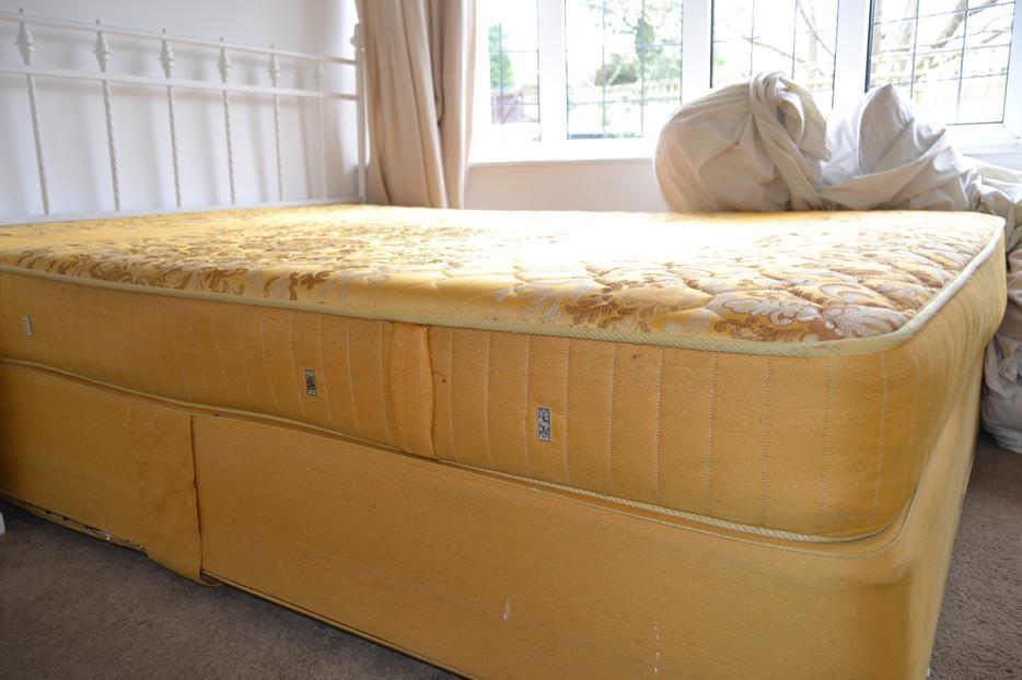 King size slumberland divan bed with metal headboard for King size divan with mattress and headboard