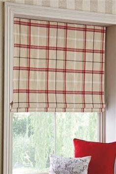 Next Red Check Roman Blind Brierley Hill Dudley