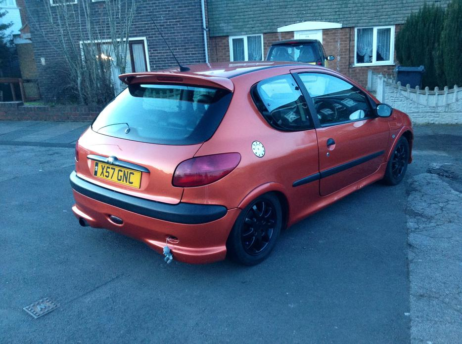 Peugeot 206 Sport Orange Full Sport Lethers Car Cline