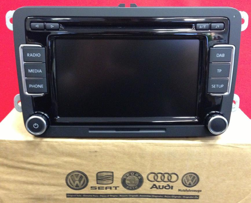 genuine volkswagen vw rcd 510 6 cd changer mp3 sd reverse. Black Bedroom Furniture Sets. Home Design Ideas