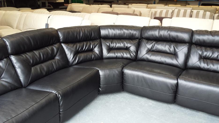 Leeds Leather Sectional 183 Palliser