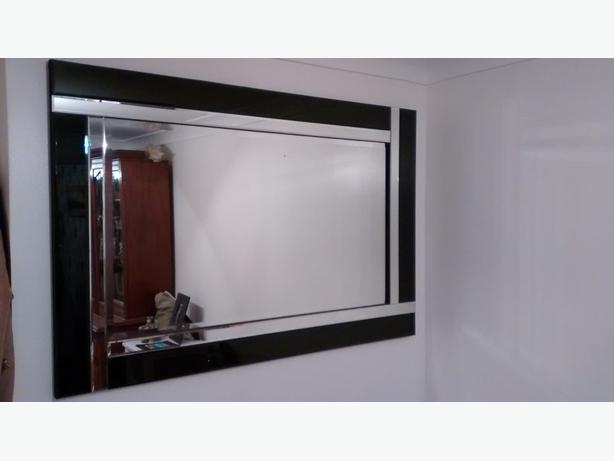 Black beveled modern wall mirror cheltenham gloucester for Contemporary wall mirrors