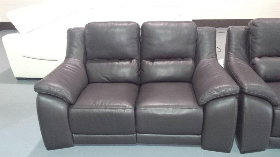 Polo Divani - Degano brown leather electric recliner pair ...