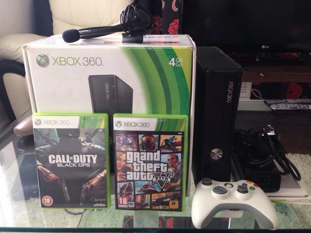 Xbox Slim 4gb Gta 5 Xbox 360 Slim 4gb With Gta 5