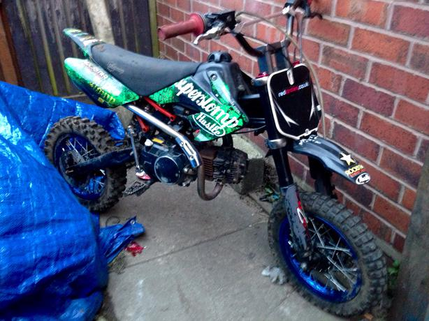  Log In needed £200 · No offers genuine 110 stomp pitbike with clutch