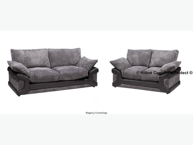 Miraculous New Leah Sofa Suite 3 2 In Grey Fabric Amp Soft Leather Dailytribune Chair Design For Home Dailytribuneorg