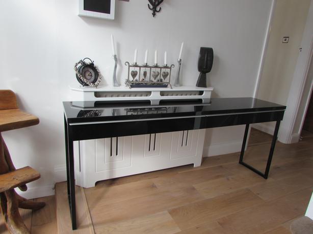 Ikea Besta Burs Black Desk Computer Pc Dressing Table