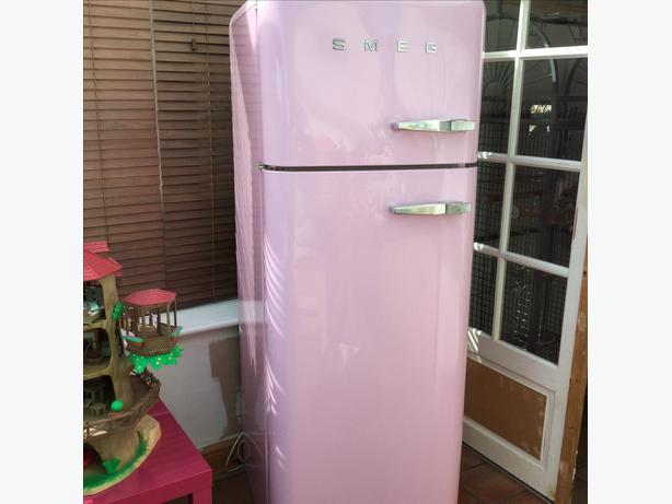 Retro Smeg Fridge Freezer Pink Kingswinford Dudley