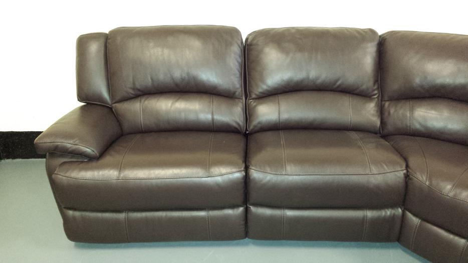 Ex Display Ronson Brown Leather Electric Recliner Corner