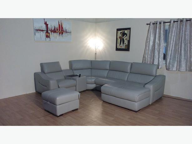 ... Elixir grey leather electric corner sofa with Ipod docking station & Elixir Corner Chaise Sofa - thesecretconsul.com islam-shia.org