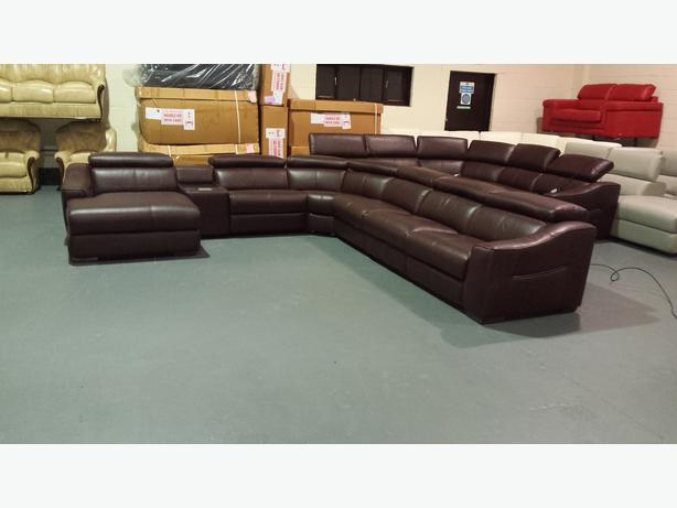 Prime Elixir Large Brown Leather Electric Corner Sofa With Ipod Caraccident5 Cool Chair Designs And Ideas Caraccident5Info