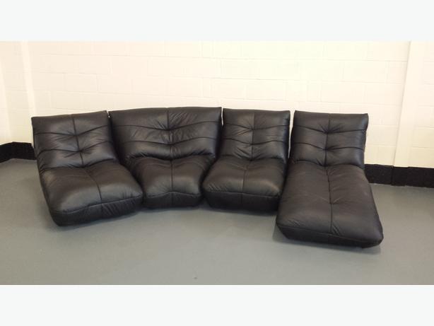 Ex Display Leather Sofas Executive Scs Quot Santiago Quot Black Leather Corner Sofa Ex Display