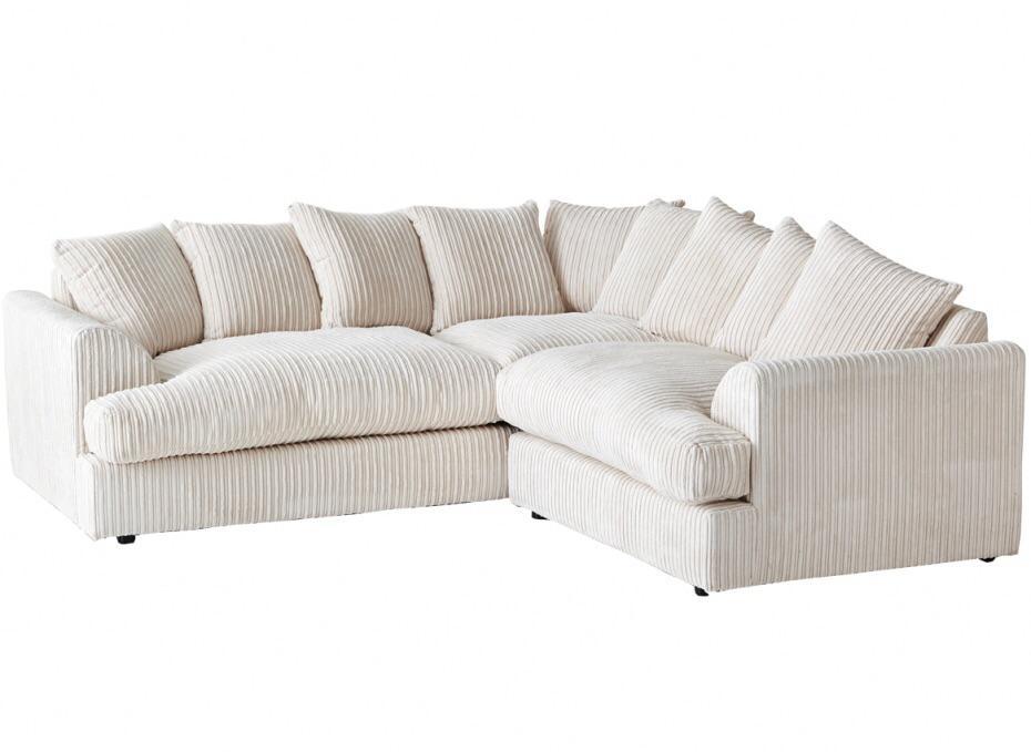 ferguson corner sofa jumbo cord fabric suite chocolate black grey cream city centre birmingham. Black Bedroom Furniture Sets. Home Design Ideas