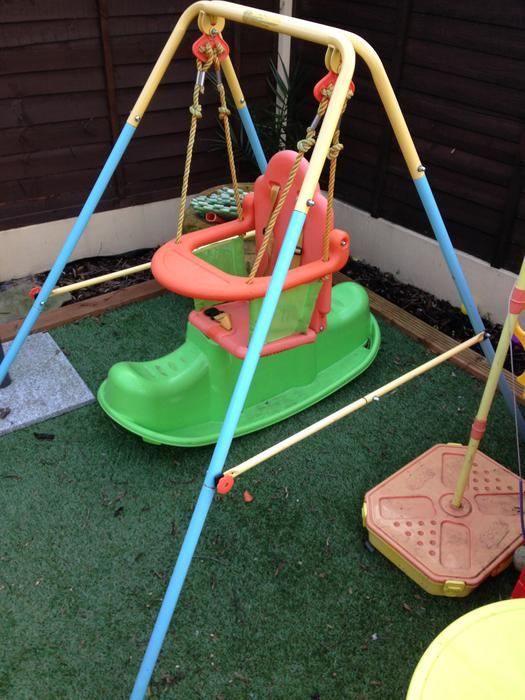Baby outdoor swing outside black country region dudley for Baby garden swing amazon
