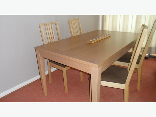 log in needed 60 dining room table and 4 chairs 60