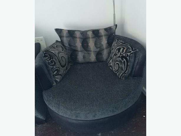 DFS Round Swivel Chair Love Seat Cuddle Chair Tipton Wolverhampton