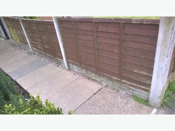 9 6x3 fence panels bloxwich dudley. Black Bedroom Furniture Sets. Home Design Ideas