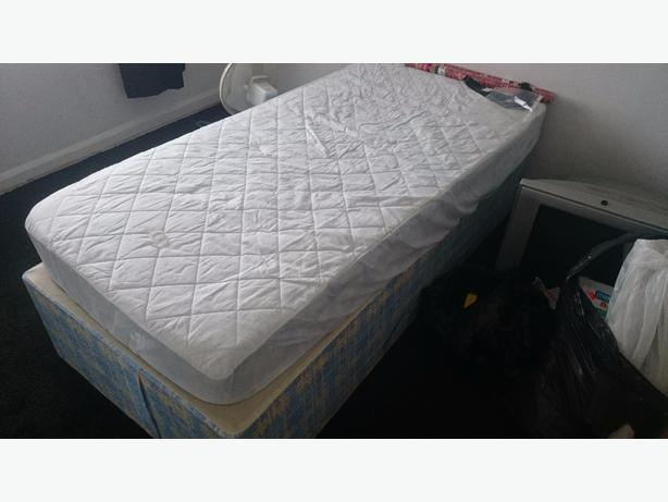 selling new single bed never been slept in. Must collect.