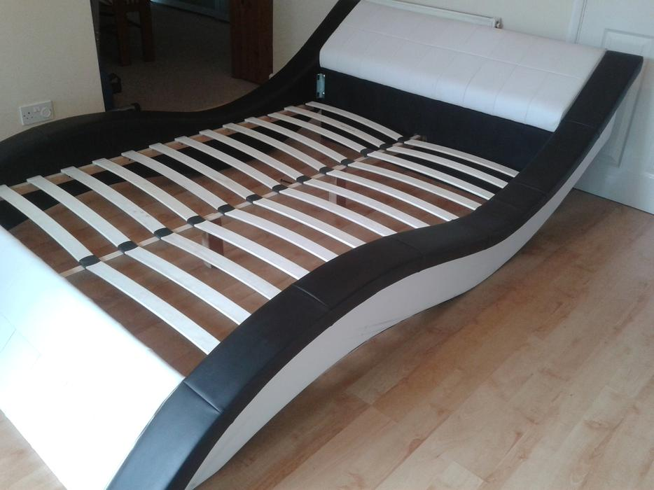 Ultra modern double leather bed wolverhampton dudley - Ultra modern beds for boys ...