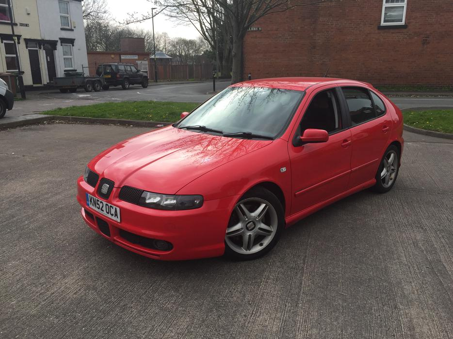 2002 52 seat leon cupra 1 8t 20v turbo red looks nice turns heads alloys walsall sandwell. Black Bedroom Furniture Sets. Home Design Ideas