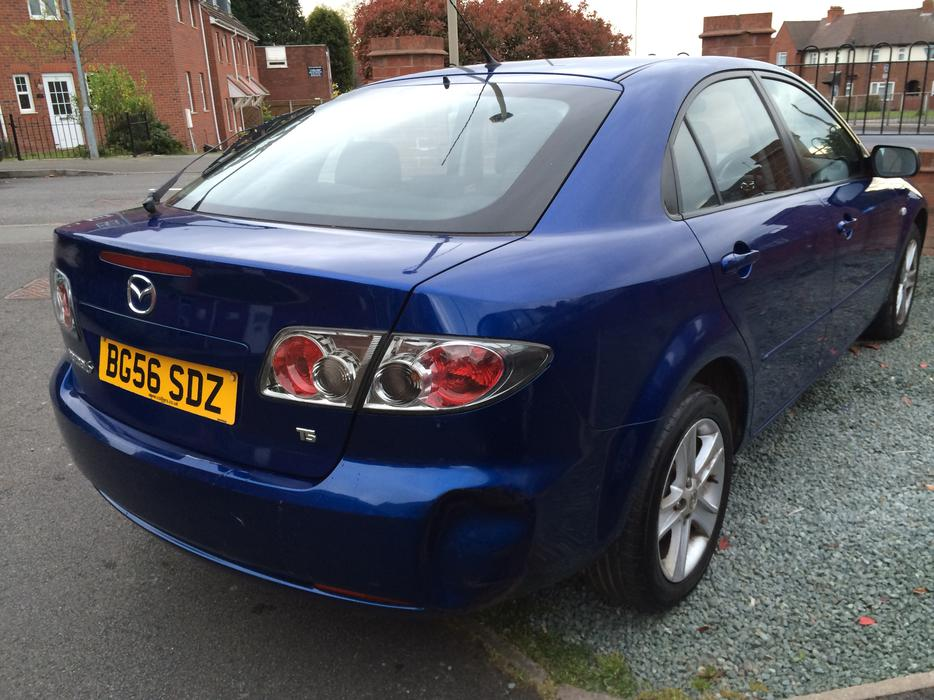2006 mazda 6 ts blue 6 speed salvage damaged cat d light. Black Bedroom Furniture Sets. Home Design Ideas