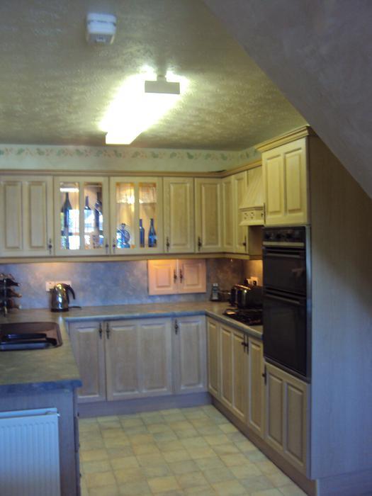Limed Oak Kitchen Wall Units