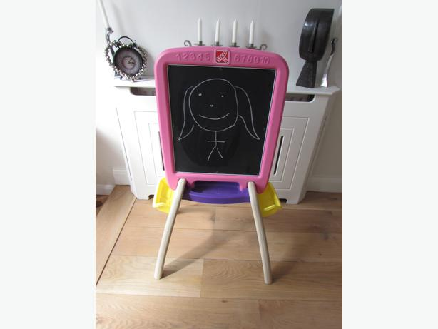 Step 2 All Around Easel For Two Pink Chalk Drawing Board