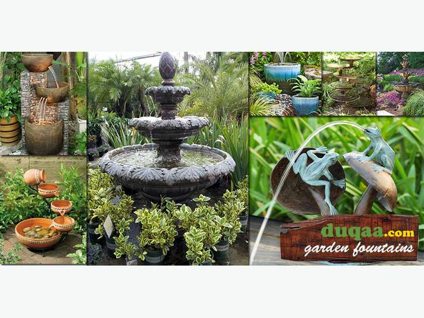 Decorative garden fountains other dudley for Ornamental garden features