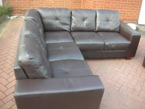 brown leather corner sofa for sale dudley wolverhampton