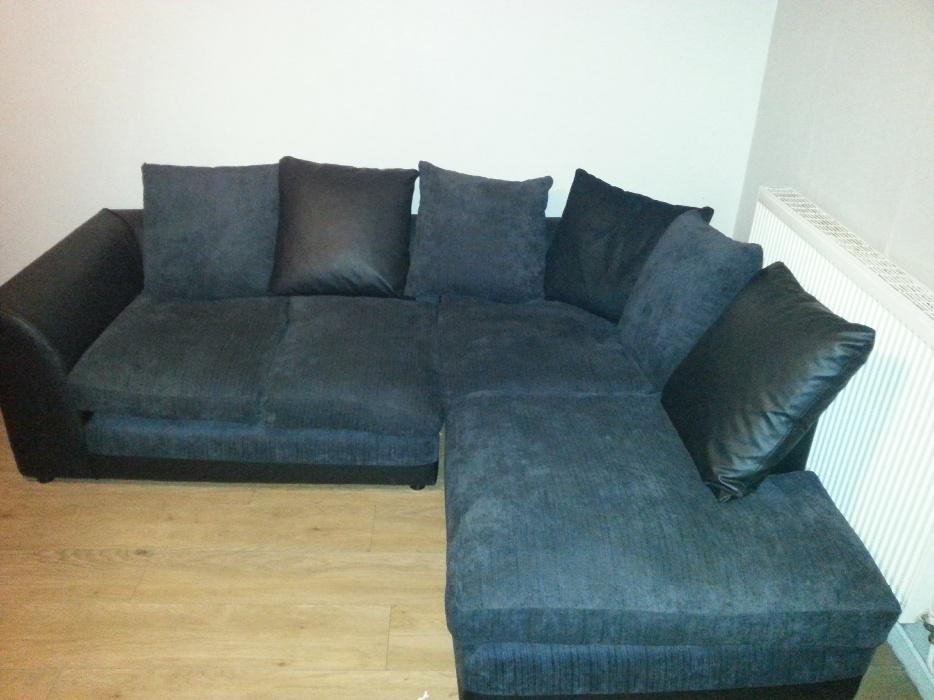 Black and grey corner sofa walsall dudley for Black and grey sofa